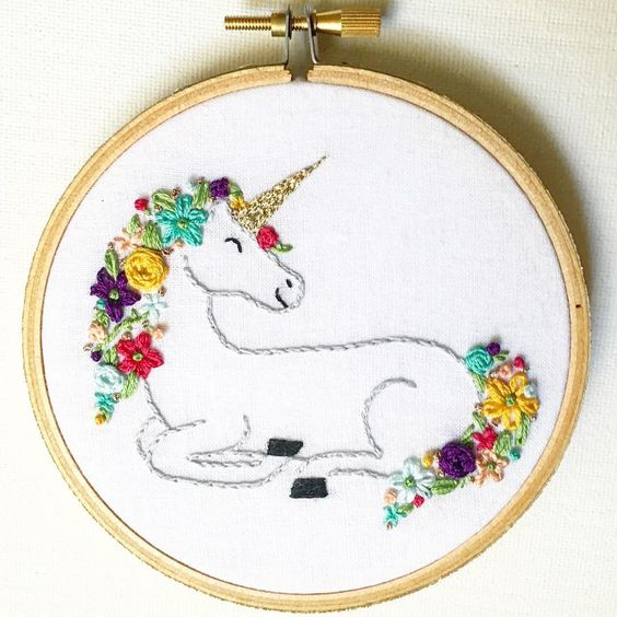 Unicorn hoop art embroidery pinterest ps unicorns