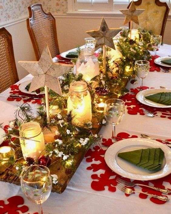Addobbare Tavola Di Natale Immagini.Idee Per Apparecchiare La Tavola Per La Vigilia Di Natale Vacanze Di Natale Cena Vigilia Natale Decorazioni Per Tavolo Di Natale