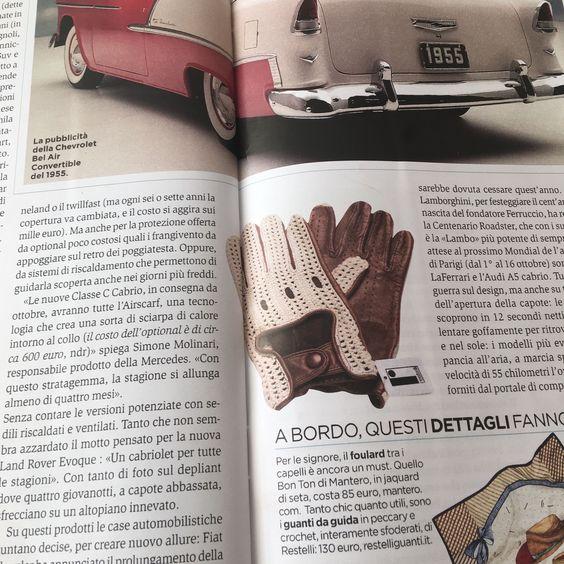 Su Panorama si parla di auto e accessori da usare al volante. E per i guanti da guida la scelta è per i guanti Restelli