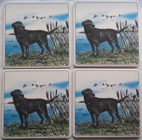 Barlow ArtStone Coasters Absorbent Designs Lab Labrador