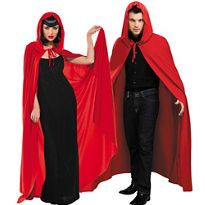 Adult Red Hooded Cape - Party City Canada