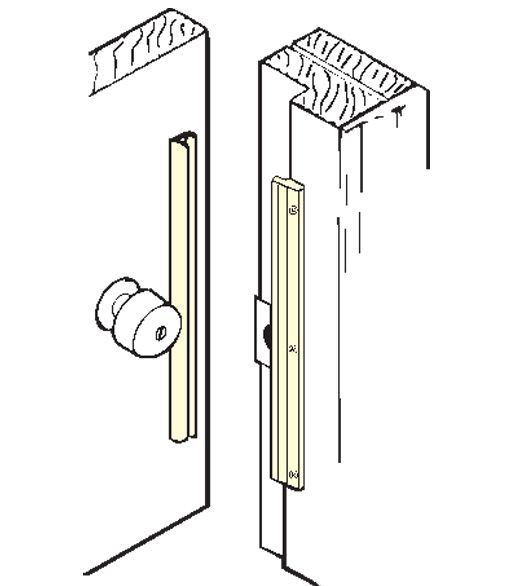 Protecting Door Latch From Vandalism 12 Inch Inswing Door Security Latch Guard Don Jo Ilp 212 With Images Security Door Latches Door Latch
