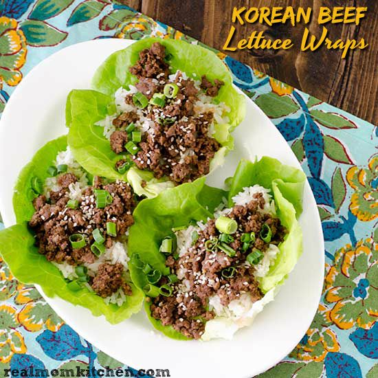 Korean Beef Lettuce Wraps Real Mom Kitchen Beef Lettuce Wraps Healthy Asian Recipes Lettuce Recipes