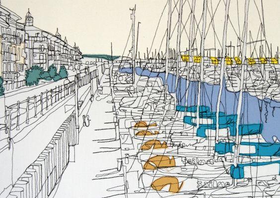 'Brighton Marina' Detail by gillian bates