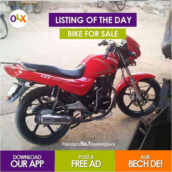 Listing of the Day: Hey fans! Are you interested to buy this Bike? To see the listing click on the following link: http://bit.ly/1roIibj  #OLXPakistan #ListingoftheDay #UsedBike #YahaSabMiltaHai