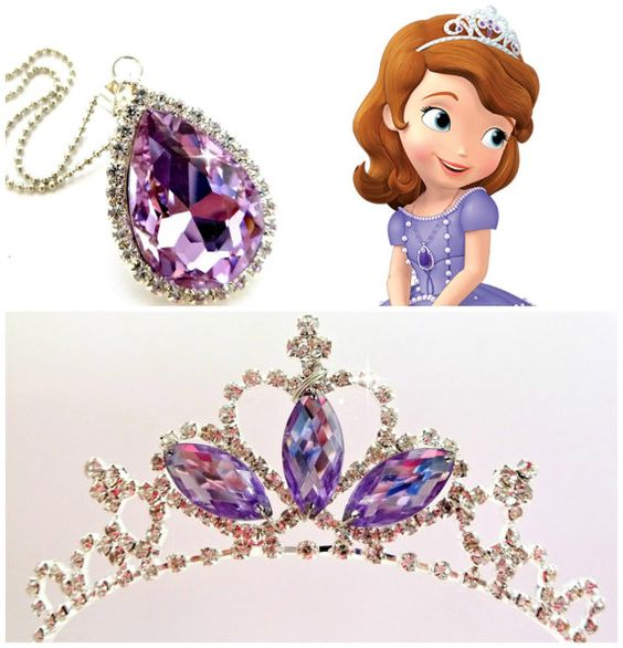 Sofia The first Tiara and Magic Amulet PRINCESS SOFIA Crown &
