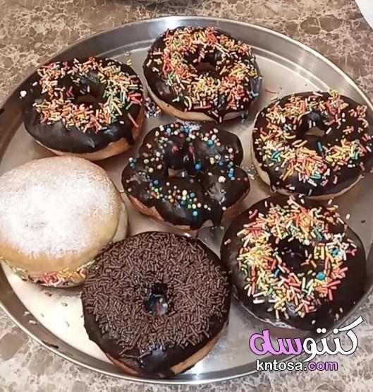 طريقة عمل الدونات سريعة طريقة عمل الدونتس السهل طريقة عمل الدونات المقلية مقادير الدونتس Food Desserts Doughnut