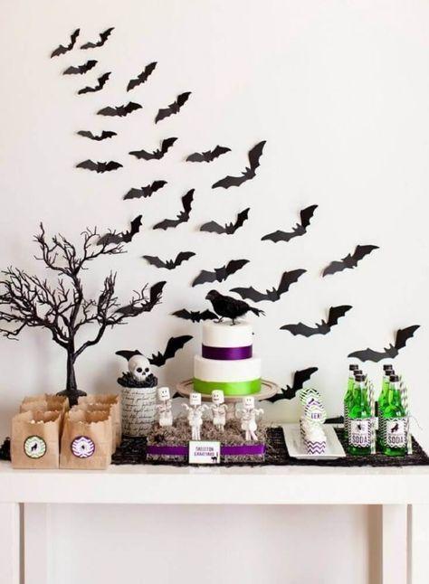 decoração simples para festa de halloween #festahalloween #decoração #halloween
