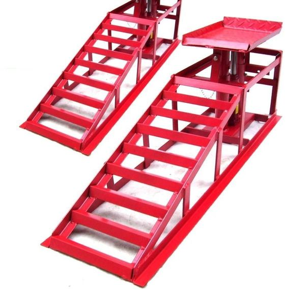Lifting Car Ramp Jack 2t 2 Heights Hydraulic Adjustable Pair Car Maintenance Ram | eBay