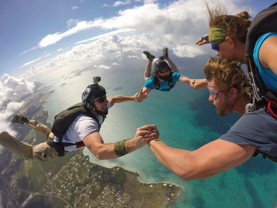 Experience Our Gulf Sunset Beach Parachute Landing Skydiving Gulf Shores Beach Sunset