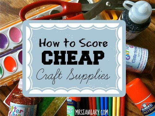 This is an awesome list of ways that you can easily score very CHEAP craft supplies. Check it out!