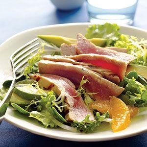 Grilled Tuna Citrus Salad: Grilled Ahi, Salad Recipe, Salads Sunset, Citrus Salad, Tuna Citrus, Grilled Tuna, Recipes Salad, Albacore Tuna Recipes