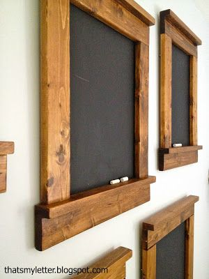 Creating beautiful & simple blackboards - great gift and great for home. I really want to try this!