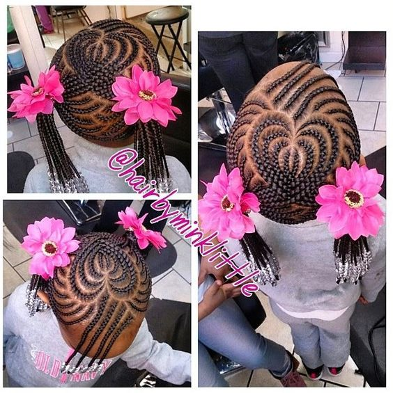 Superb Kids Braided Hairstyles Heart Hair And Black Kids On Pinterest Hairstyle Inspiration Daily Dogsangcom