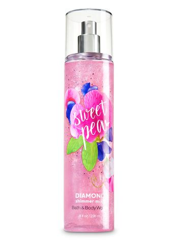 Signature Collection Sweet Pea Diamond Shimmer Mist Bath And