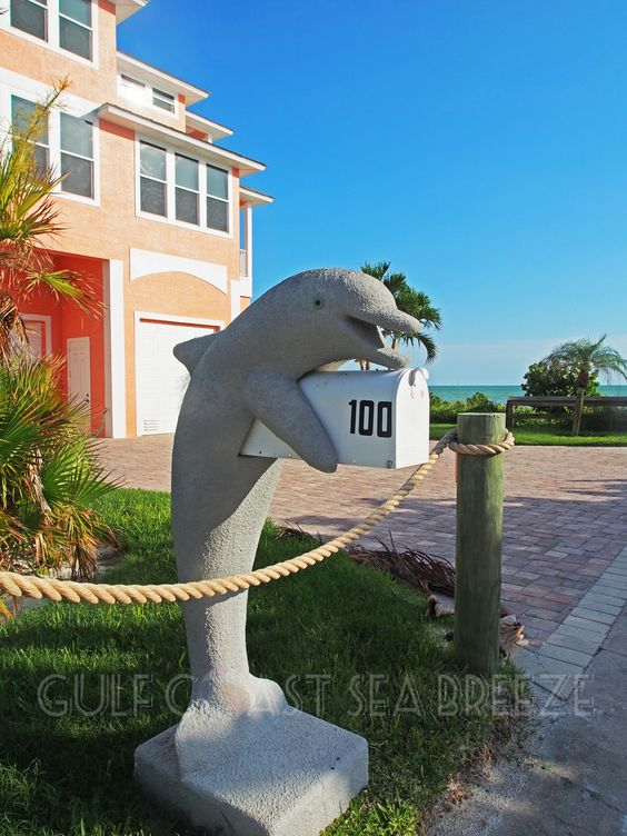 Cute Dolphin Mailbox Fort Myers Beach Fl Mailboxes