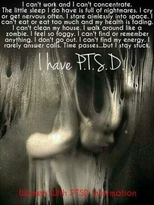 PTSD-- this is EXACTLY how I was in the beginning. I'm so thankful for my family who made sure I got the help I needed. If you are seeking to help someone you know with PTSD, read further Give Them A Voice is an advocacy foundation, dedicated to raising awarness of the impact and long term effect of sexual abuse on boys as they grow into men. www.noworkingtitle.org