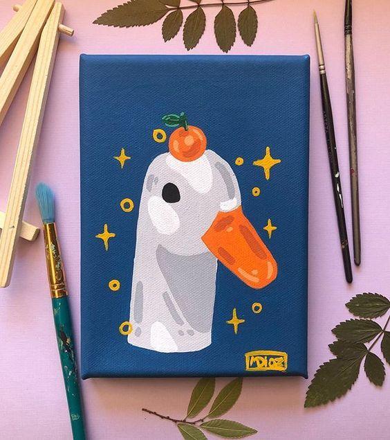 40 Easy Acrylic Painting Ideas On Canvas Mini Canvas Art Diy Art Painting Cute Canvas Paintings