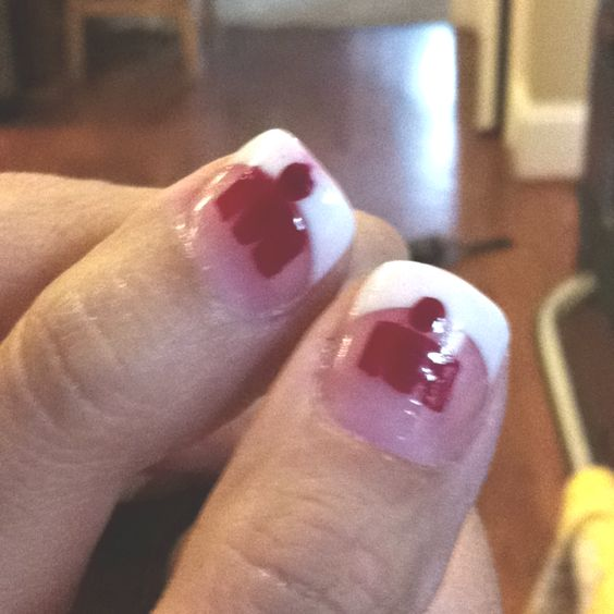 Ironman nails to celebrate hubby's second full Ironma triathlon!