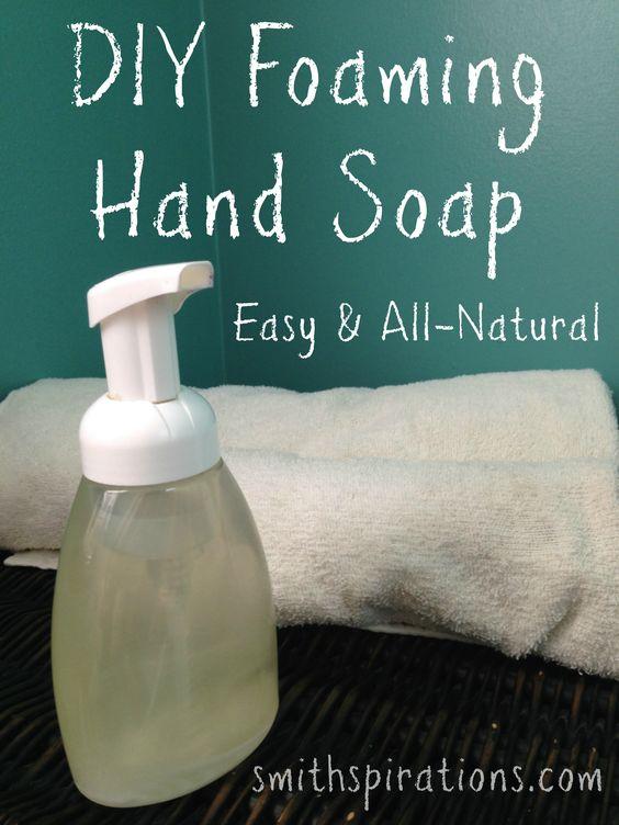 DIY Foaming Handsoap | by Kristen at Smithspirations