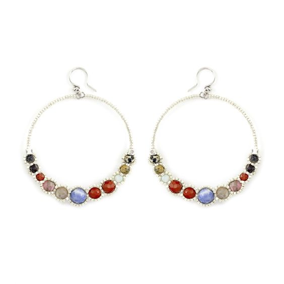 Chan Luu - Multi Hoop Earrings, $80.00 (http://www.chanluu.com/earrings/multi-hoop-earrings/)