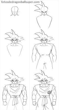 Como Dibujar A Goku Para Principiantes En Cuerpo Completo Paperblog Cómo Dibujar A Goku Dibujo De Goku Goku A Lapiz