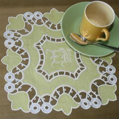 Pair of Elaborate Cutwork and Embroidered Doilies - Google Search - Google Search