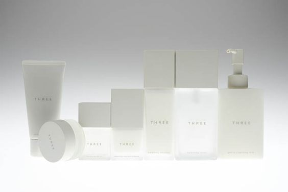 THREE packaging designed by nendo: Body Skin, Beauty Design, Design Directions, Three, Packaging Skincare, Cosmetic Packaging