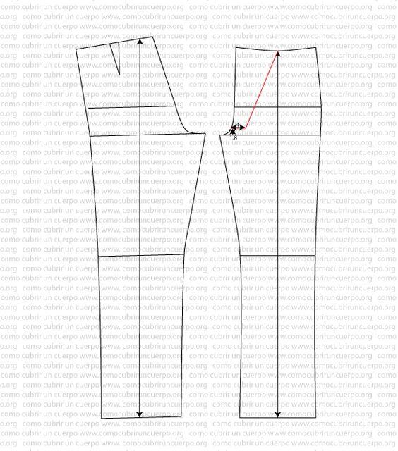 Pantalón tejano sin costuras laterales y bragueta de pequeño puente | Cómo cubrir un cuerpo