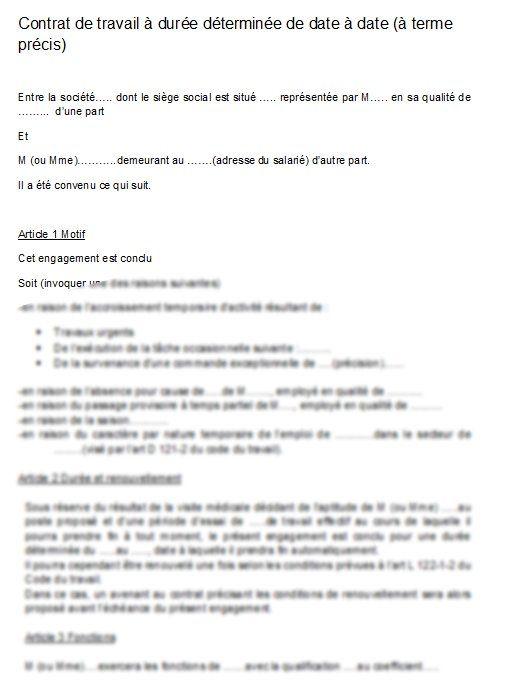 Modele Contrat De Travail Cdd Gratuit Word Document Online Modele Contrat De Travail Contrat Modele De Contrat