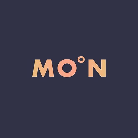 Do you see the moon tonight? Sign by Ji Lee. #supermoon #moon #logo #identity #design #branding #logothorns