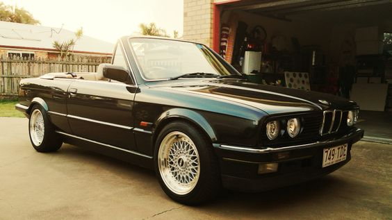 BMW E30 CARS Red E30 325i Mtech 2 convertible  BMW E30