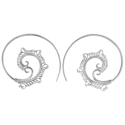Fancy Spirals in Silver Plated