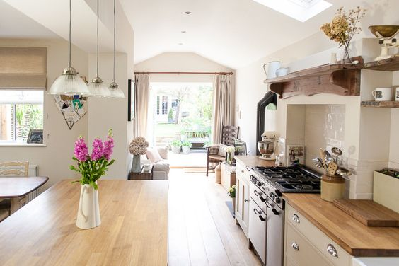 Renovated side return with Farrow & Ball Kitchen | 3 Bed Renovated Hertfordshire Victorian Terrace