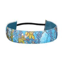 Art Nouveau Stained Glass Wisteria Floral Headband