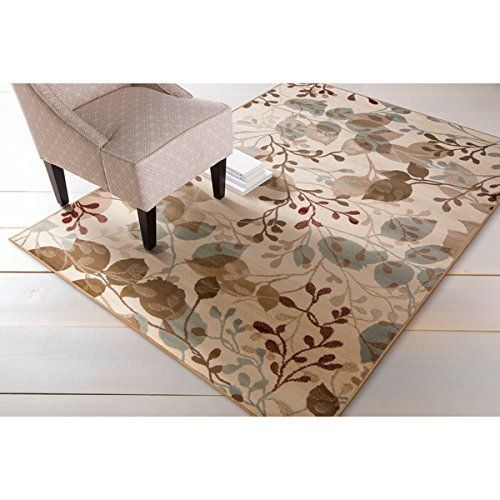 "Achim Home Furnishings Woven Area Rug, 5'3"" x 7'6"", Beige Achim Home Furnishings http://www.amazon.com/dp/B017YH7ZCW/ref=cm_sw_r_pi_dp_G8k0wb07CYYGT"