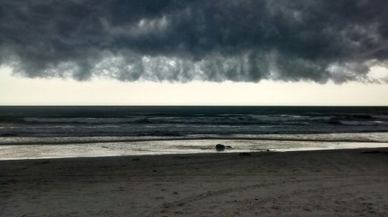 Calm before the storm in Myrtle Beach, SC