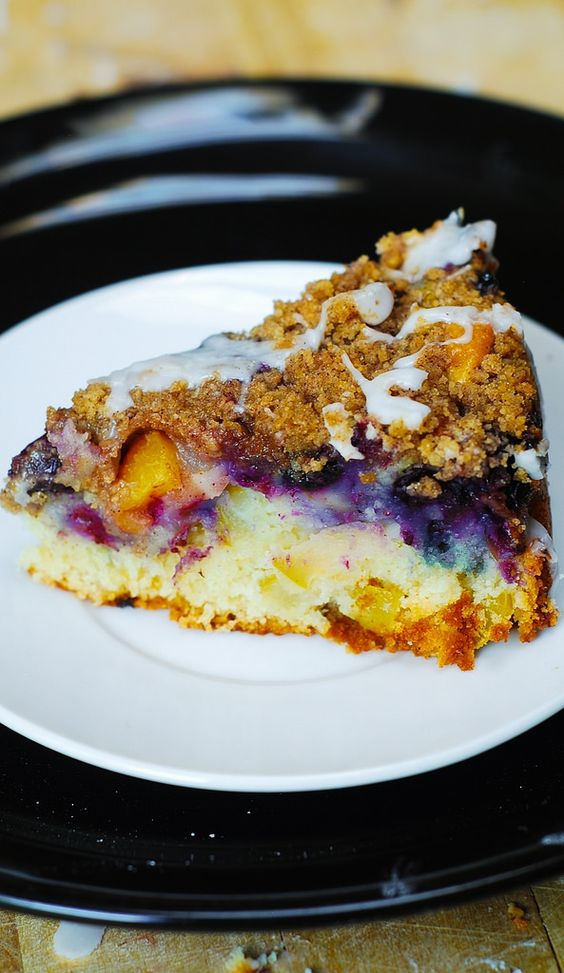 Peach coffee cakes, Coffee cake and Blueberries on Pinterest