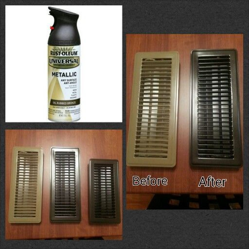 DIY cheap home improvement. Painted vent covers.