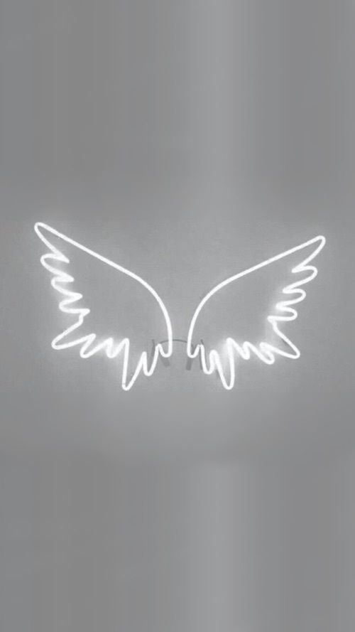 Wings White And Light Image Grey Wallpaper Iphone White Wallpaper For Iphone Black Aesthetic Wallpaper