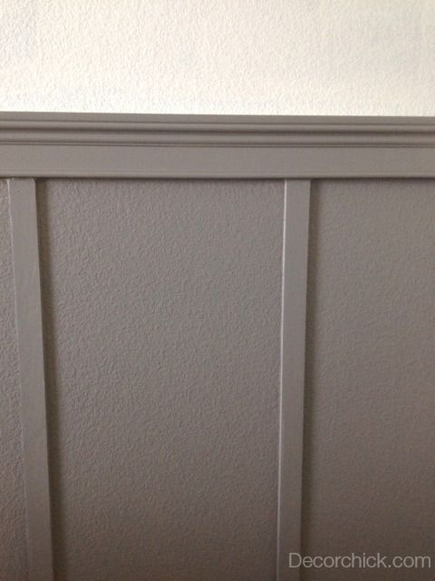 Grey wainscoting for Chalk paint at sherwin williams