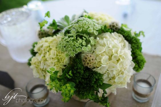 woodland wedding centerpieces