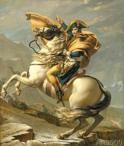 Jacques-Louis David - Napoleon (1769-1821) Crossing the Alps at the St Bernard Pass, 20th May 1800, c.1800-01