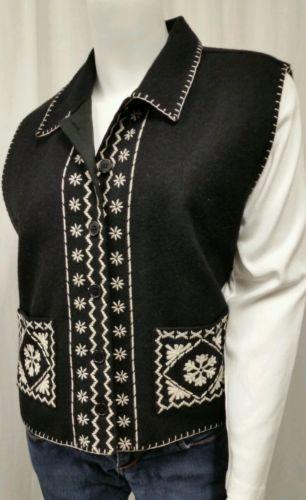 item image $16.10 women's tantrums wool blend cardigan vest xl