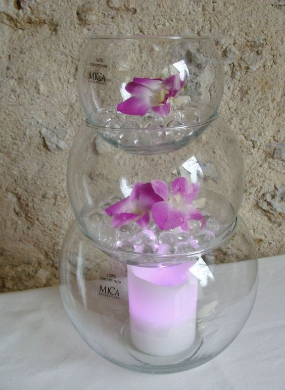 pyramide vases boule en verre pour mariage bulles. Black Bedroom Furniture Sets. Home Design Ideas