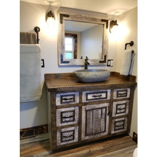 Timber Haven Rustic Barnwood Vanity 24 42 Barnwood Vanity Rustic Bathroom Designs Rustic Vanity