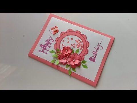 Beautiful Handmade Birthday Card Idea Diy Greeting Cards For Birthday Youtube Birthday Card Craft Handmade Birthday Cards Greeting Cards Handmade