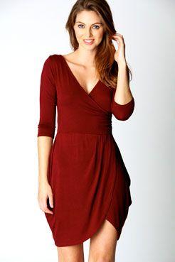 Dani 3/4 Sleeve Wrap Dress