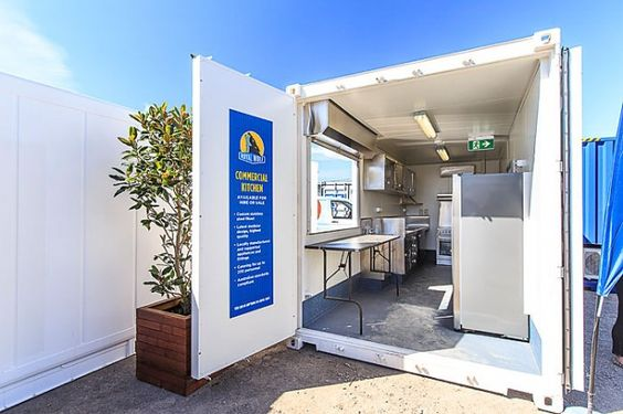 Commercial Kitchen Mobile Business Shipping Container