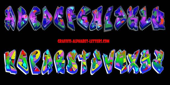 Create Names With Bubble Letters | For example I create graffiti alphabet  letters A through Z